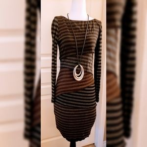 Joseph Ribkoff sexy stripped dress